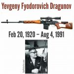 1959 – Dragunov submitted his design for the SVD