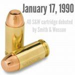 .40 S&W cartridge debuted