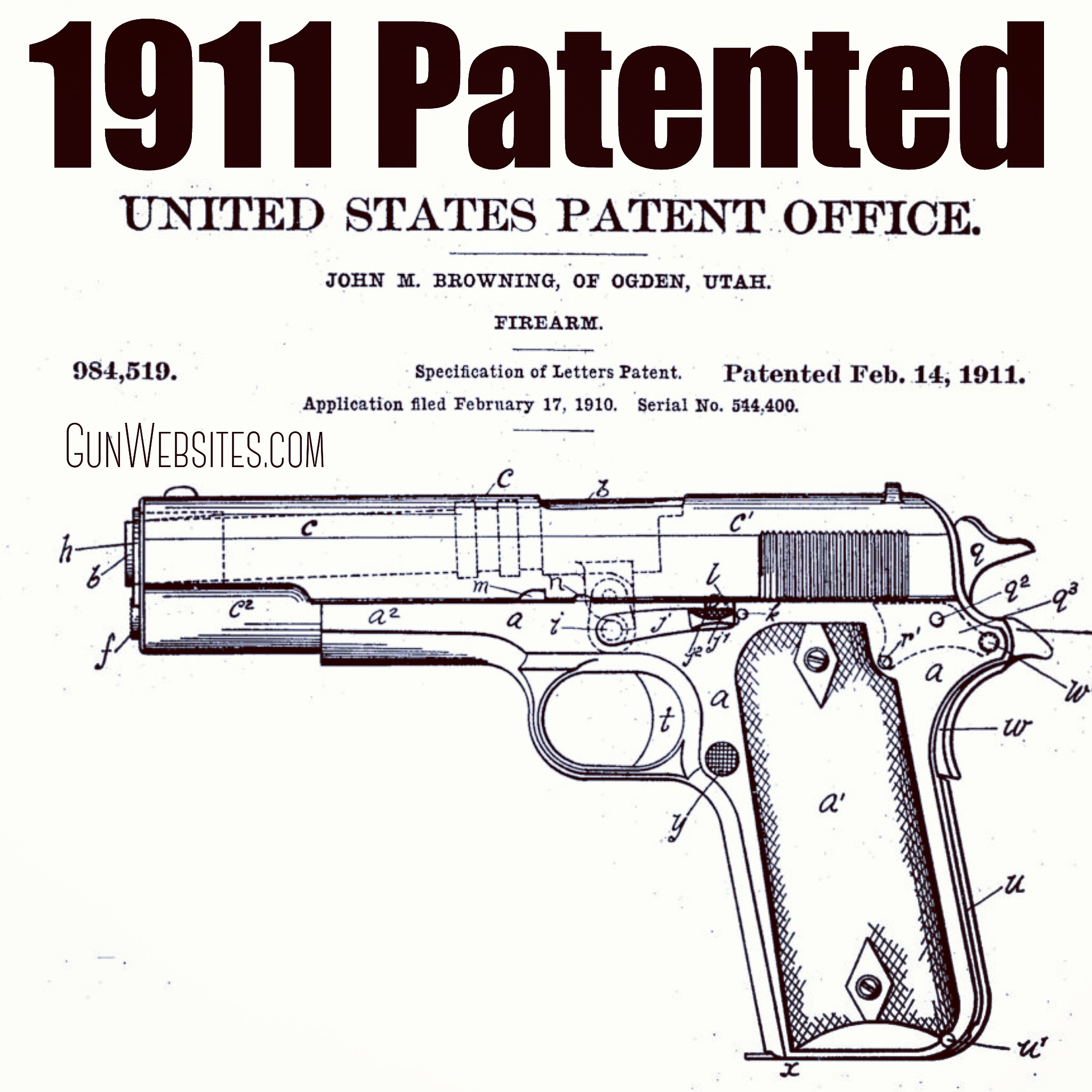 The 1911 was formally adopted by the Army on March 29, 1911