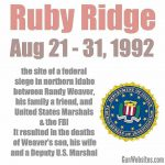 Ruby Ridge was a deadly confrontation & siege in northern Idaho for 10 days at a home in August 1992