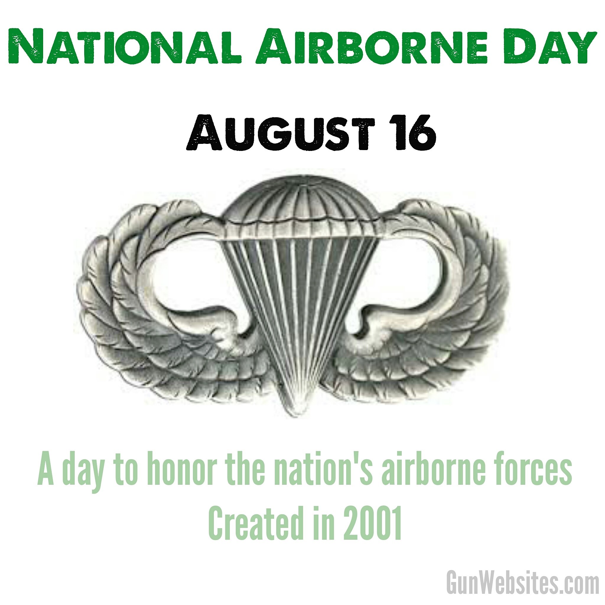 designated by the United States Congress to honor the nation's airborne forces of the Armed Forces.